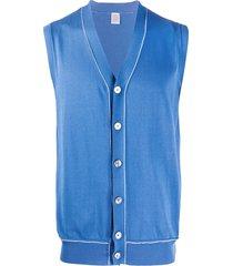 eleventy sleeveless v-neck cardigan - blue