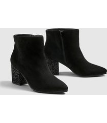 lane bryant women's dream cloud skylar glitter-heel bootie 12w black