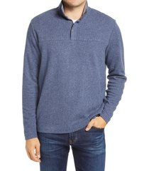 men's johnnie-o dusty henley pullover, size small - blue