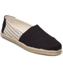black university stripes sandaletter expadrilles låga svart toms