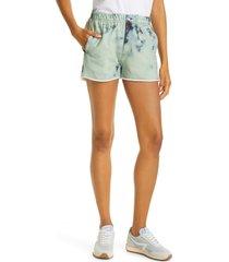 women's rag & bone miramar faux jeans knit shorts, size x-small - green (nordstrom exclusive)