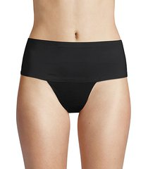 bonded edge wide high-waist thongs