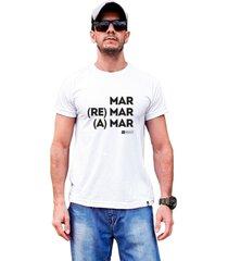 camiseta sustentã¡vel waveholic mar, remar e amar branca - branco - masculino - dafiti
