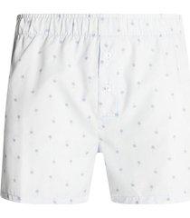 boxer amplio palmeras color blanco, talla m
