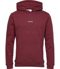 lens hoodie hoodie trui rood les deux