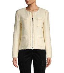 benji cotton & linen-blend jacket