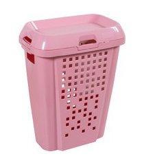 cesto de roupas 45l compartimento removível astra k/rb6-rs1-br rosa