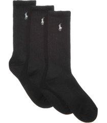 polo ralph lauren women's 3 pack sport crew socks