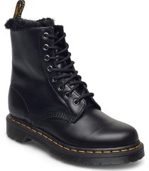 1460 serena dark grey atlas shoes boots ankle boots ankle boot - flat svart dr. martens