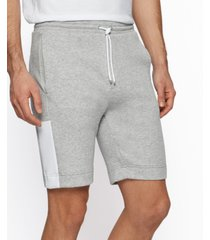 boss men's interlock-jersey shorts