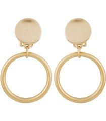 t tahari women's essential clip gypsy hoop earring