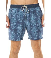 men's rip curl volley beach party swim trunks, size xx-large - blue