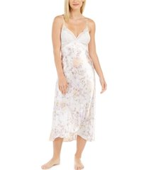 linea donatella women's lace-trim satin floral-print chemise nightgown