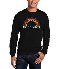 men's good vibes word art crewneck sweatshirt