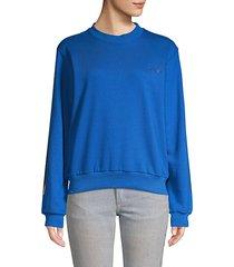 back-zip cotton sweatshirt