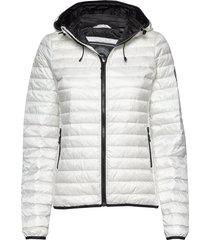 core down hooded jacket gevoerd jack wit superdry