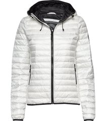 core down hooded jacket gevoerd jack wit superdry