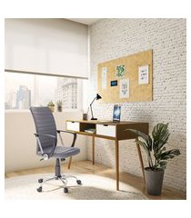 cadeira de escritório diretor giratória fort liard cinza