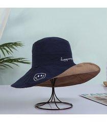 mujeres sólido de doble cara sombrero de pescador señoras corea verano