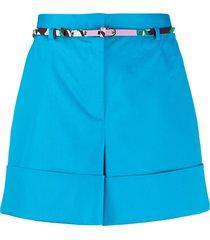 emilio pucci high-waist belted shorts - blue