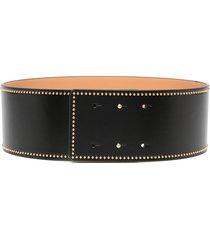 elisabetta franchi stud-embellished waist belt - black