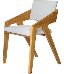 krzesło fado xo - lity dąb - tapicerowane