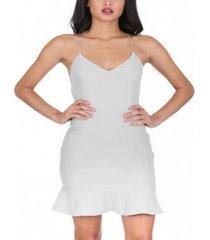 ax paris women's frill hem mini dress