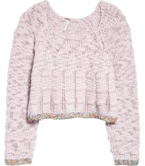women's free people west palm sweater, size x-large - pink