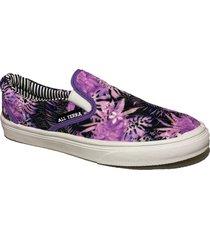 zapatilla violeta all terra flor