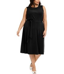 charter club plus size sleeveless tie-side midi dress, created for macy's