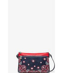 crossbody bag embroideries - blue - u