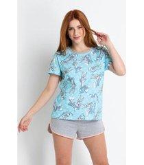 pijama curto acuo - pernalonga feminino