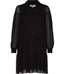 crinkle ggt dress korte jurk zwart michael kors