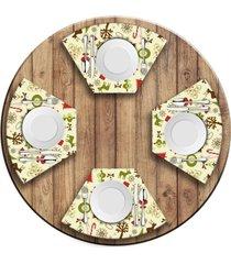 jogo americano   para mesa redonda wevans elementos natalinos  love decor - multicolorido - dafiti