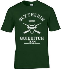 beater old slytherin quidditch team men tee s to 3xl forest green
