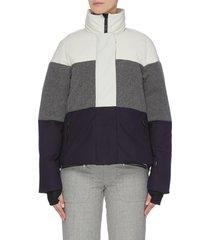 'lola' colourblock panelled high neck performance jacket