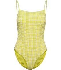 eli swimsuit baddräkt badkläder gul becksöndergaard