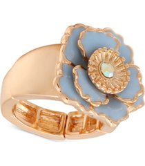 guess gold-tone flower garden stretch cocktail ring