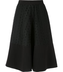 gloria coelho textured a-line skirt - black