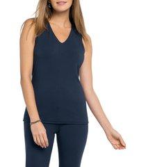 women's nic+zoe soft ease tank top, size large - blue