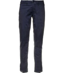 jacob cohen jacob cohen blue cotton trousers