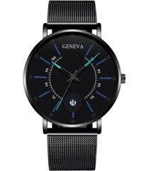 reloj cuarzo hombre pulso malla acero ultrafino 230 negro azul