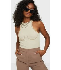 nly trend contrast seam top linnen