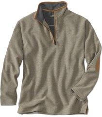 simoom tweed quarter-zip sweatshirt, olive, medium