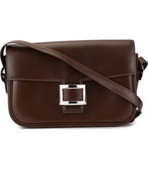 hermès pre-owned square plaque shoulder bag - brown