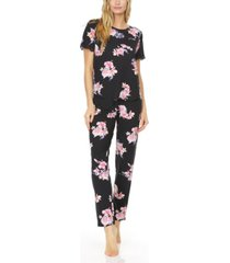 flora by flora nikrooz women's annette printed knit pajama set