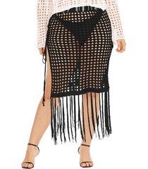 talla grande hueco diseño detalles de la borla falda trajes de baño