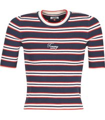 blouse tommy jeans tjw stripe 3/4 sleeve sweater