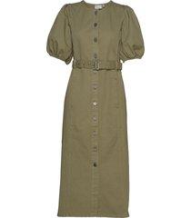 dilettogz dress ms20 jurk knielengte groen gestuz