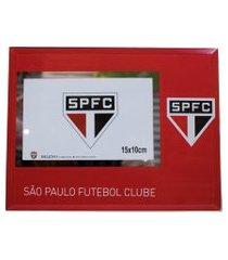 porta retrato minas de presentes de vidro 1 foto 10x15cm - spfc vermelho